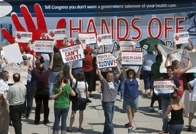 Health Overhaul Protests