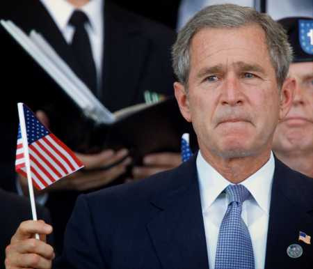 George-Bush frowning